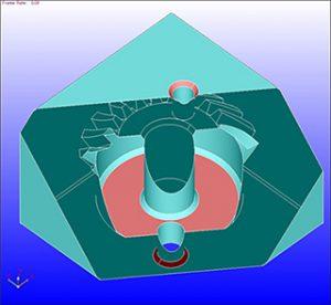 (1)境界面と内部サーフェスの一面選択