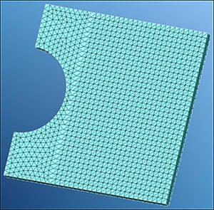 (1)Mapped Mesh四角形状平面